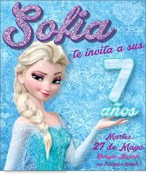 Frozen Elsa Invitaciones De Cumpleanos