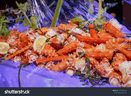 King Crab Legs On Ice Stock Photo ...