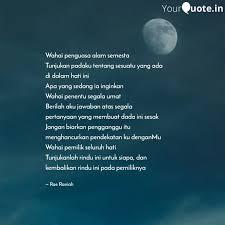 wahai penguasa alam semes quotes writings by karimah irma