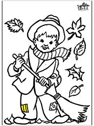 Kleurplaat Herfst 2 Kleurplaten Herfst