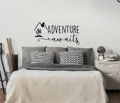 Excited To Share The Latest Addition To My Etsy Shop Adventure Awaits Wall Decal Stickers Bedroom Decor Mountain Wall Decal