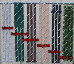 Installation For Chain Link Fence Slats