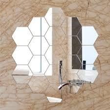 hexagon mirror tiles vgeby 12pcs
