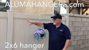 Vinyl Fencing Hangers By Alumahangers Youtube