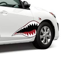 Product Warhawk Flying Tiger Shark Teeth Vinyl Graphics Decal Sticker Fits Any Sedan Car