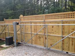 Hidden Gate English Box Lattice Topped Privacy Fence Apex Fence Company