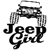 Jeep Girl Die Cut Vinyl Decal Pv514 Pirate Vinyl Decals