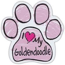 Pink Scribble Paws I Love My Goldendoodle Golden Doodle Dog Paw Car Magnets Walmart Com Walmart Com