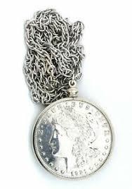 1921 real morgan silver dollar pendant