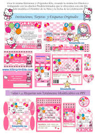 Kit Imprimible Hello Kitty Invitaciones Tarjetas Todo Para Tu