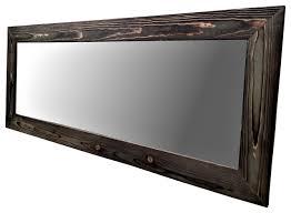black wood rustic floor mirrors