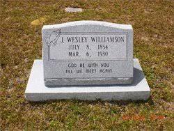 John Wesley Williamson (1854-1930) - Find A Grave Memorial