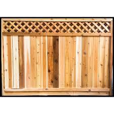 Aim Cedar Works 6x8 Contractor Cedar Fence Panel The Home Depot Canada