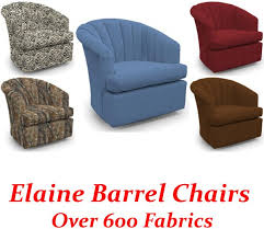 elaine swivel glider barrel chair