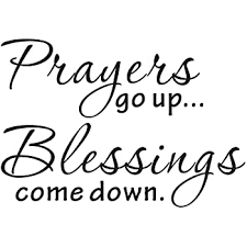Amazon Com Vinyl Decal Prayers Go Up Blessings Come Down Inspirational Bible Verse Scripture Home Decor Home Kitchen