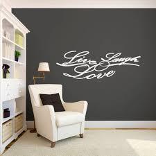 Live Laugh Love Script Wall Decals Home Decor Wall Decals Home Decor Simple Wall Decor Custom Wall Decals