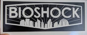 Detailed Bioshock Inspired Logo With Rapture Sil Vinyl Decal For Car Ftw Custom Vinyl