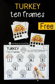 turkey ten frame math game