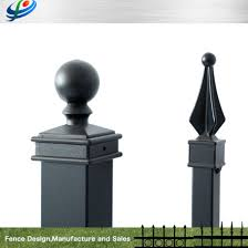 Aluminum Fence Post Polyester Powder Coated Post 50mm 50mm China Aluminum Fence Post And Steel Fence Post Price Made In China Com