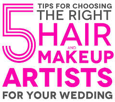 hair stylists for your wedding