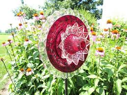 20 upcycled garden glass flowers made