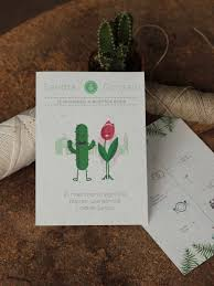 Diseno De Una Invitacion De Boda De Papel Con Semillas De Flores