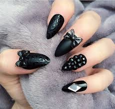 55 most beautiful black nail art designs