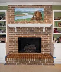 painting brick fireplace from white