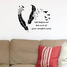 Creative Feather Bird Wall Sticker Living Room Bedroom Wall Decoration Sticker Sale Price Reviews Gearbest