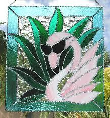 painted metal tropical water birds