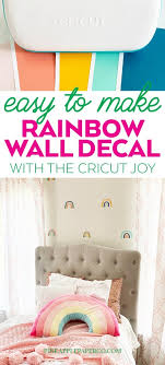 Diy Rainbow Wall Decals Cricut Joy Project Pineapple Paper Co