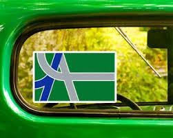 2 Flag Of Albany Oregon Decal Sticker Bogo For Car Window Bumper Laptop Ebay