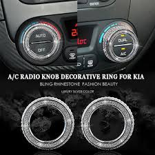Bling Car Air Conditioning Radio Knob Button Switch Ring Cover Decal For Kia Kx5 Ebay