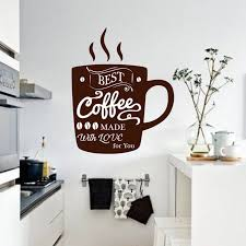 Coffee Wall Decal Vinyl Cup Of Coffee Kitchen Wall Stickers Coffee Cup Kitchen Quote Decal Vinyl Dining Room Cafe Decor X633 Wall Stickers Aliexpress