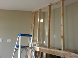 wall framing above fireplace