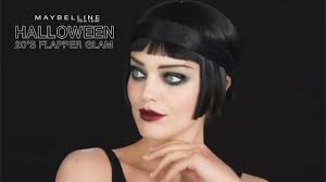 halloween 20s flapper makeup tutorial