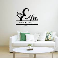 Vinyl Wall Word Decal Mr Mrs Home Decor Wall Words Etsy