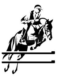 Show Jumping Horseman Vector Design Black And White Equestrian Horse Clip Art Horse Silhouette Horse Jumping