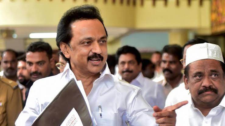 Image result for dmk protest stalin