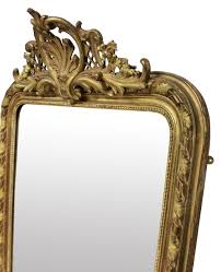 french water gilded overmantle mirror