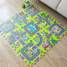 9pcs Baby Kids Play Room Floor Mat Eva Foam Crawl Jigsaw Puzzle Carpet City Road Ebay