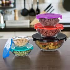 chef buddy 10 piece glass bowl set with