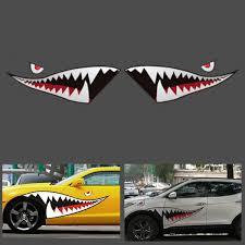 150cmx50cm Shark Month Teeth Vinyl Sticker Car Body Exterior Scratch Cover Decal Waterproof Sale Banggood Com