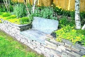 stone flower bed ideas rock beds raised