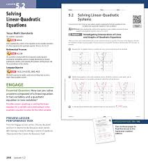 solving linear quadratic equations