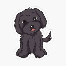 Maltipoo Black Grey Dog Greeting Card By Katinabox Redbubble