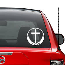 Amazon Com Christian Pastor Church Vinyl Decal Sticker Car Truck Vehicle Bumper Window Wall Decor Helmet Motorcycle And More Size 5 Inch 13 Cm Tall Color Gloss Black