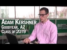 Make Your Mark for Babson 2019 - Adam Kershner '19 - YouTube