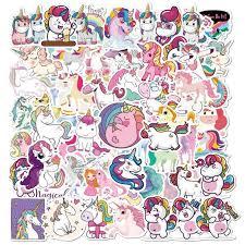 50 Pcs Cute Animal Unicorn Stickers Waterproof Laptop Skateboard Guitar Suitcase Motorcycle Graffiti Girls Decal Sticker Stickers Aliexpress