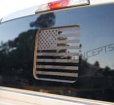 F 150 Flat Black American Flag Rear Window Accent Decal 2015 2018 Decal Concepts